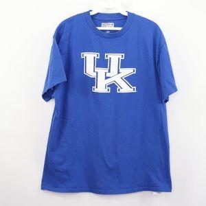 Majestic Mens Large Kentucky Wildcats T Shirt Blue